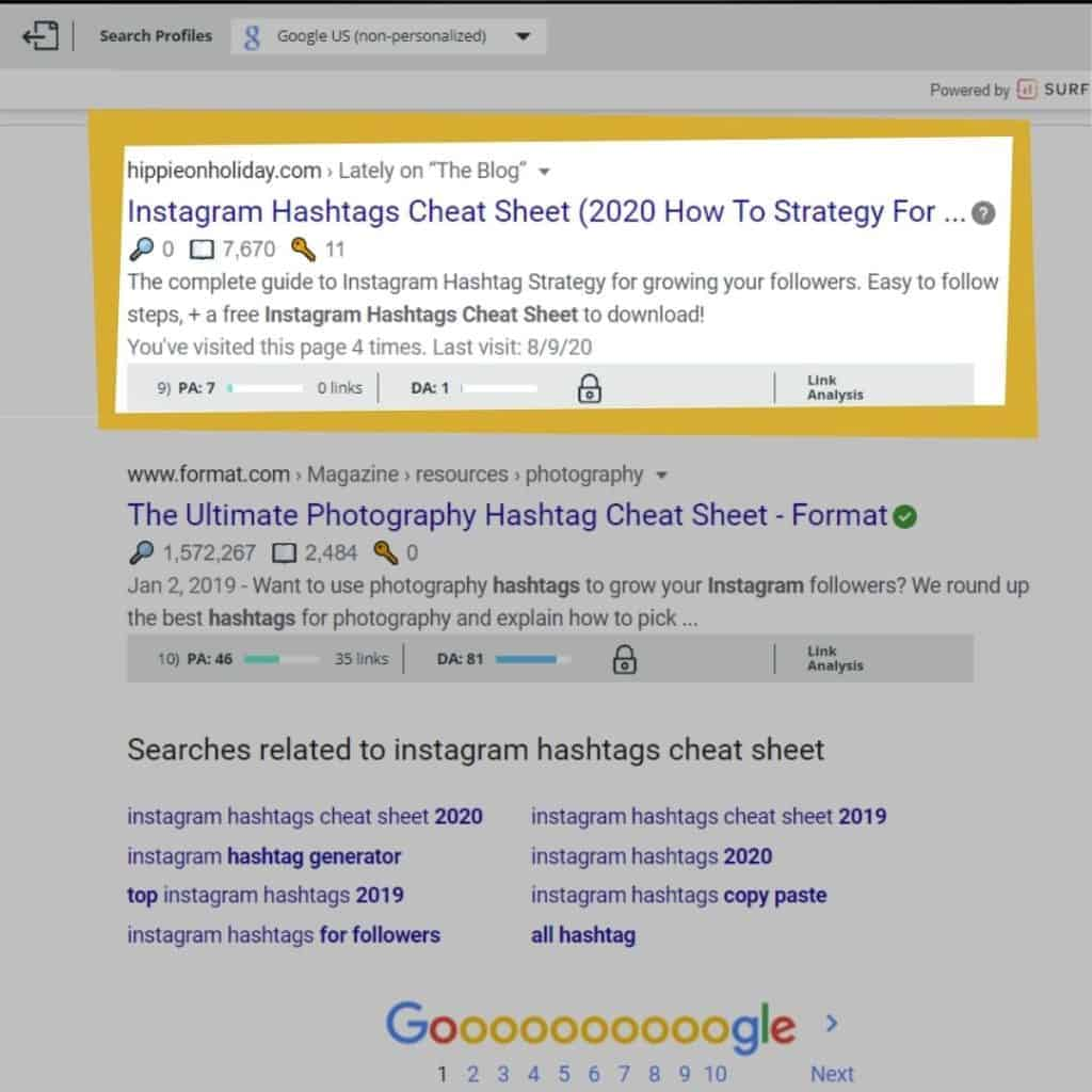 First Blog Post Ranking On Page One Of Google Search Results