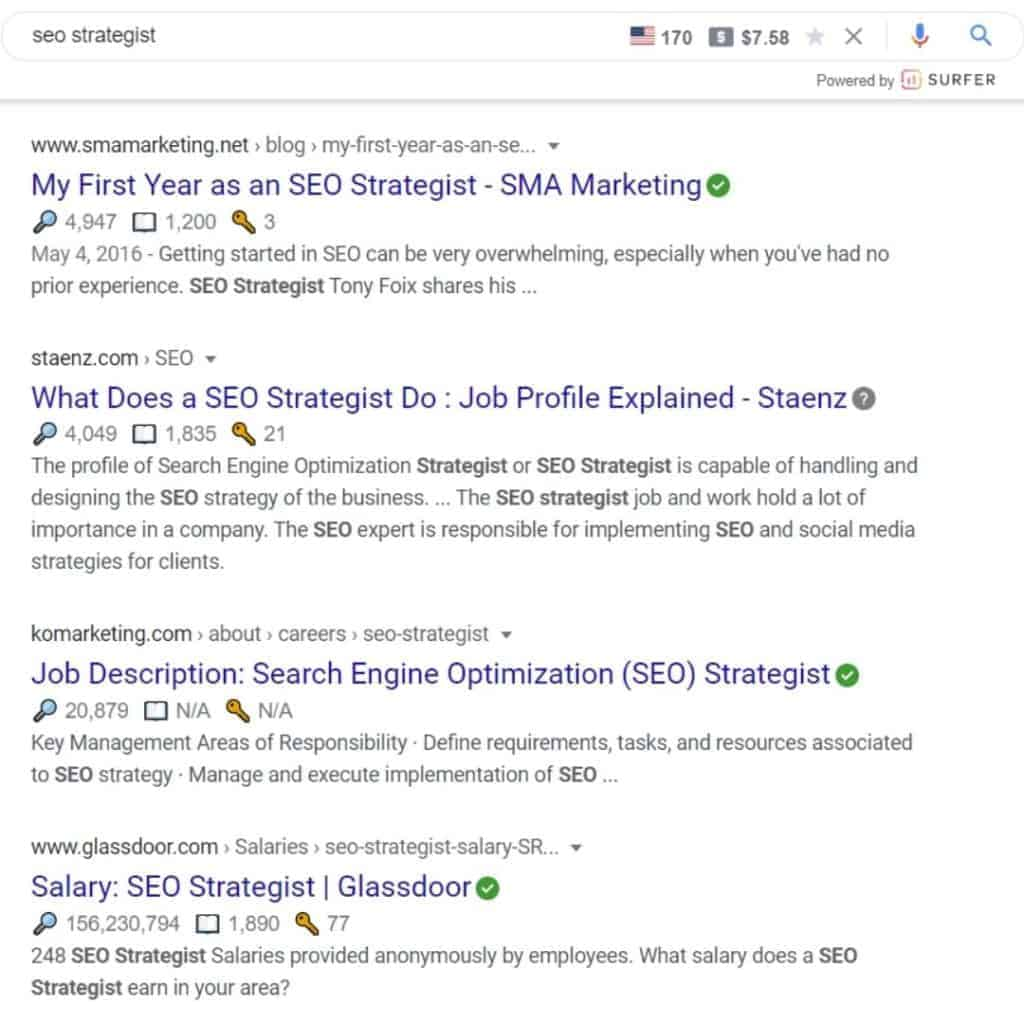 seo strategist example of misinterpetation of user intent